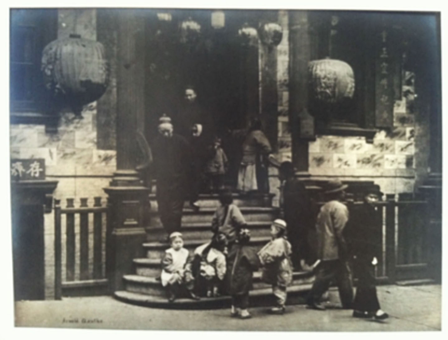 Arnold Genthe -  In Front of Joss House, Old Chinatown, San Francisco