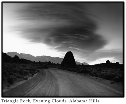 Alan  Ross - Triangle Rock, Evening Clouds, Alabama Hills