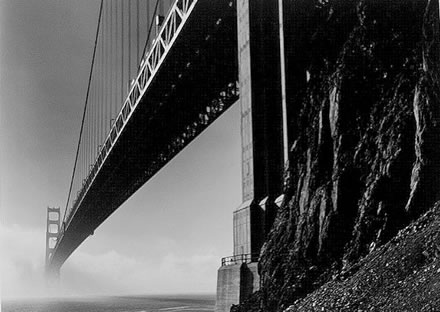 Alan  Ross - Golden Gate Bridge, North Tower and Rocks