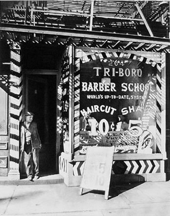 Berenice Abbott - Tri-Boro Barber School, New York City