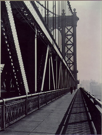 Berenice Abbott - Walkway,Manhattan Bridge