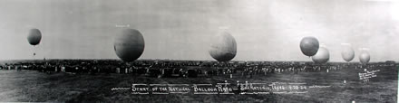 Eugene Goldbeck - Start of the National Balloon Race, San Antonio, Texas