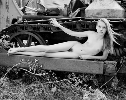 Jock Sturges - (A631) Misty Dawn; Northern California 1995