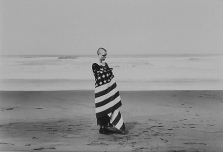 Ken Miller - Marisa In Flag, San Francisco 1985